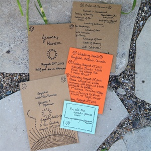 Kraft Paper DIY Invitations
