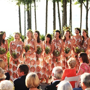 Printed Bridesmaids Dresses