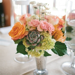 Rose and Succulent Centerpiece