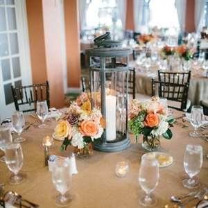 Lantern and Floral Centerpiece