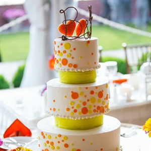 Bright Orange and Yellow Dotted Cake