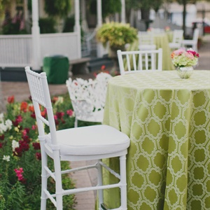 Patterned Green Tablecloth