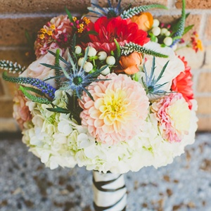 Bright Dahlia Bridesmaids' Bouquet