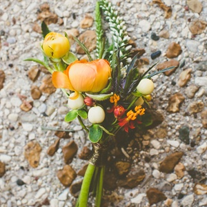 Cheery Orange Boutonniere