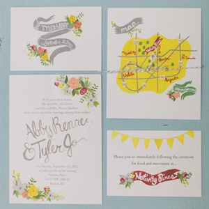 Illustrated DIY Invitation Suite