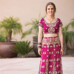 Fuchsia Indian Wedding Attire