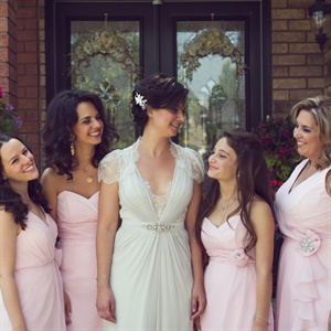 Romantic Pale Pink Bridesmaid Looks
