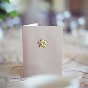Ceremony Program Booklet with Gold Flower