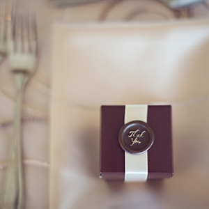 Place Settings with Thank You Favors