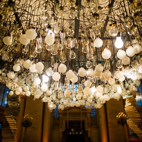 Lightbulb Ceremony Decor