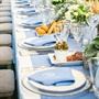 Light Blue Table Runner and Napkins