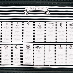 Black-and-White Seating Chart