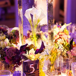 Ice Encased Calla Lily Centerpieces