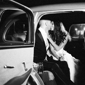 Romantic Vintage Car Getaway