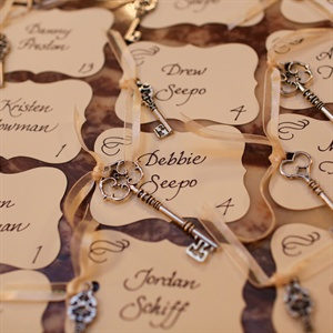 Key-Themed Escort Cards