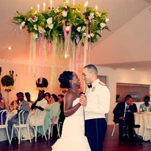 "Racquel and Elvin shared their first dance to ""Never Let Go"" by Hanson—Racquel's favorite band."