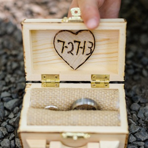 Rustic Wood Ring Box