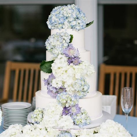 Wedding Cake with Cascading Flowers