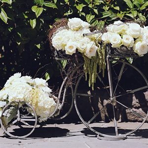 Vintage Floral Bicycle Decoration