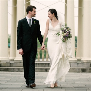 Sleek Ivory Wedding Gown