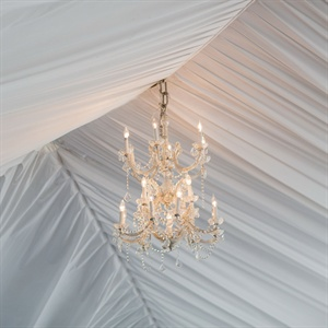 Chandelier Ceremony Decor