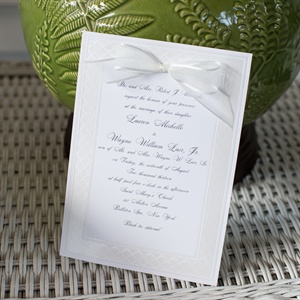 Sophisticated White Wedding Invitations