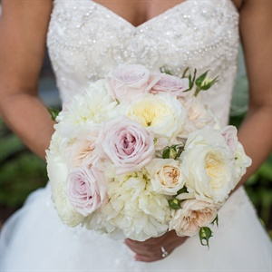 Lush Pale Bridal Bouquet