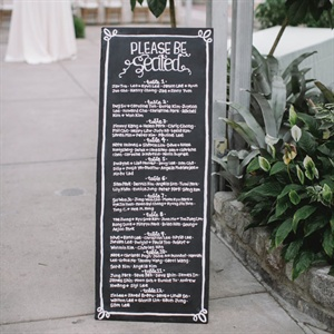 Seating Arrangement Sign
