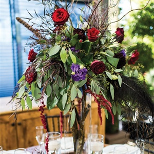 Tall Rose Centerpieces