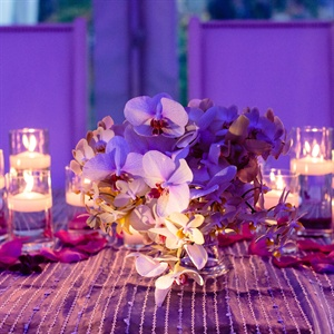 Low Orchid Centerpieces