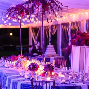 Modern Glam Tented Reception