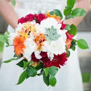 Daisy and Hydrangea Bridal Bouquet