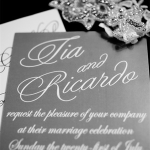 Gray and White Invitation
