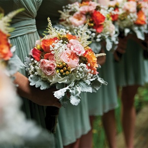 Romantic Bridesmaid Bouquets