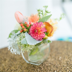 Orange and Pink Centerpiece