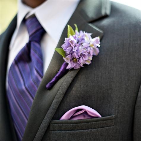 lavender boutonniere-#3