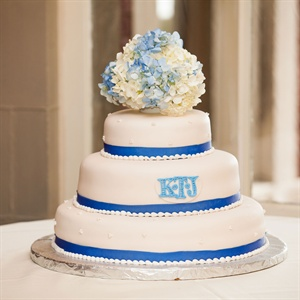 Cake with Blue Stripes