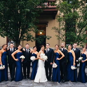 Navy Bridal Party Style