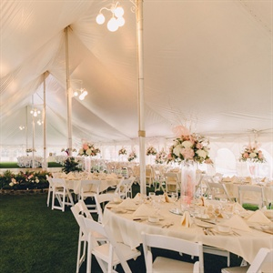 White Tented Reception Space