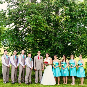 Coloful Bridal Party Attire