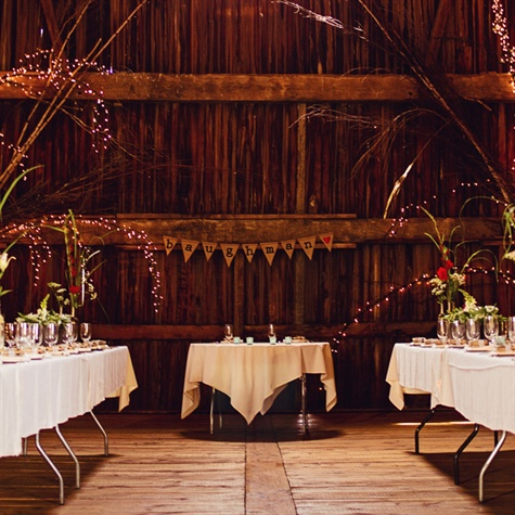 Rustic Barn Reception