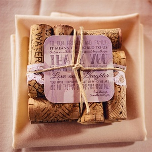 DIY Cork Coaster Favors