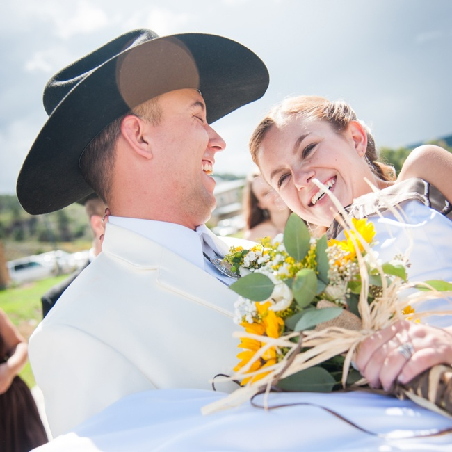 Tayler and Bryan swap vows amongst 200 friends and family during an outdoor ceremony at The Ross Aragon Community Center.