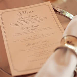 Foil Letterpress Menu Cards