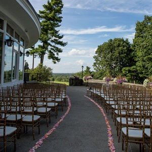 Rose Petal-Lined Aisle