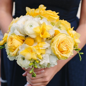 Yellow Bridesmaid Bouquets