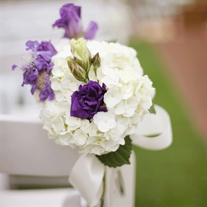 Hydrangea Ceremony Chair Decor