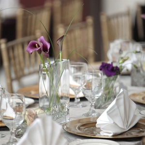Simple Calla Lily Centerpieces