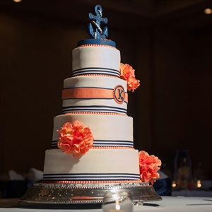 Classic Nautical Wedding Cake