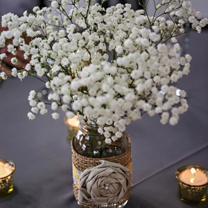 Rustic Baby's Breath Centerpiece